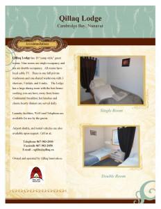 Qillaq Lodge Advertisement